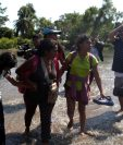 Ciento de migrantes de Honduras y El Salvador huyen de la violencia de sus países. (Foto Prensa Libre: Hemeroteca PL)