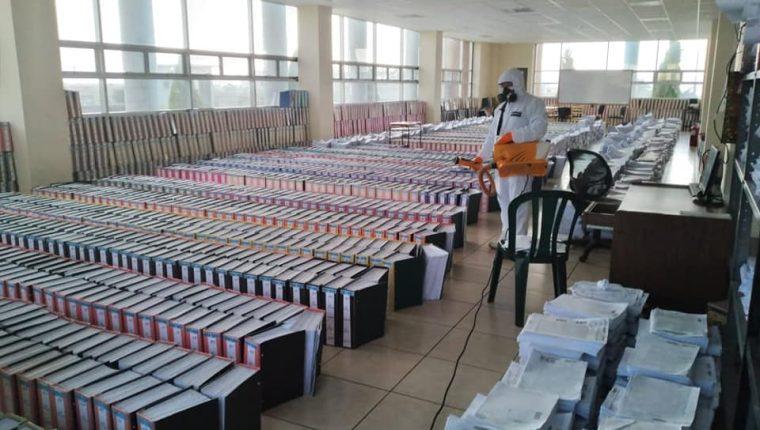 Instalaciones del Segundo Registro de la Propiedad, en Xela. (Foto tomada de Facebook)