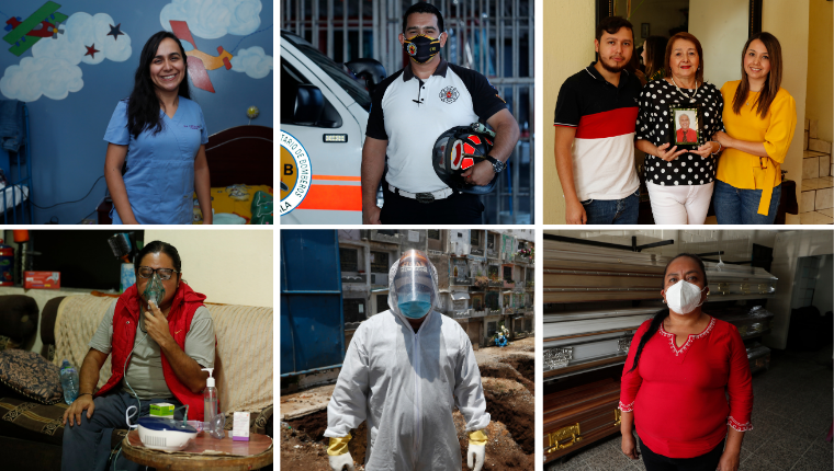 La emergencia sanitaria es relatada por seis personas que, de una u otra manera, han estado relacionadas con el covid-19. Fotos: Esbin García