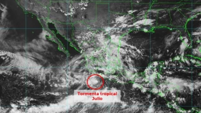 Una nueva tormenta tropical se formó la tarde de este sábado frente a costas mexicanas. Fotografía: Conagua.