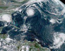 Desde 1971 no se registraban cinco ciclones tropicales activos al mismo tiempo. CENTRO NACIONAL DE HURACANES DE EE.UU.