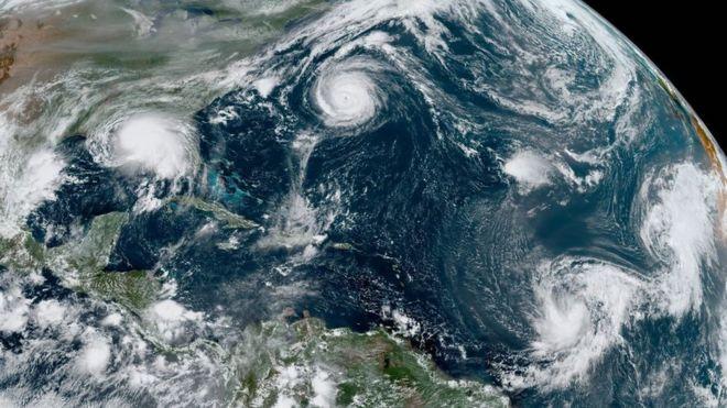 Huracán Sally: ¿por qué es histórico que haya 5 ciclones en el océano Atlántico al mismo tiempo? (y cuál es la explicación de este fenómeno)