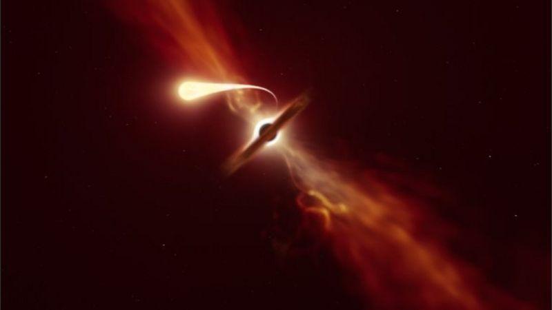 """Por qué se le llama """"espaguetización"""" al fenómeno con el que científicos observaron cómo un agujero negro devoró una estrella"""