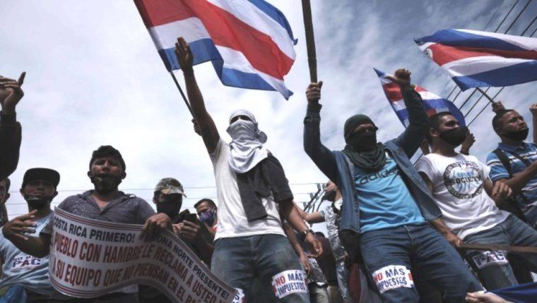 Costa Rica inició protestas ciudadanas diarias y bloqueos de carreteras el pasado 30 de septiembre.