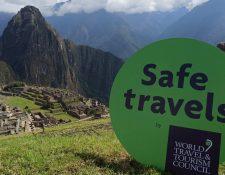 Machu Picchu es uno de los destinos turísticos más recientes en recibir el Sello de Viajes Seguros del WTTC.