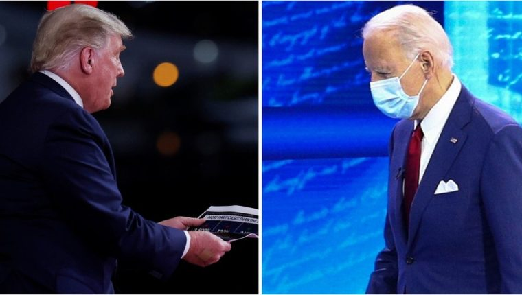 Donald Trump y Joe Biden celebraron sendos foros ciudadanos tras la cancelación del que iba a ser el segundo debate presidencial.