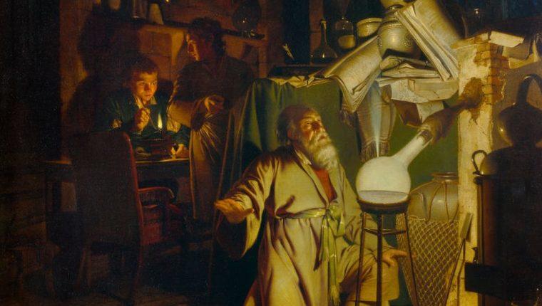 El alquimista descubriendo el fósforo es un cuadro del pintor inglés Joseph Wright.