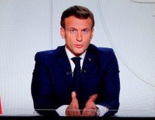 El presidente francés anunció las nuevas medidas en un mensaje televisado.