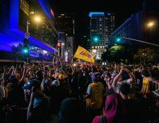 Miles de fanáticos de Los Ángeles celebraron. (Foto: AFP)