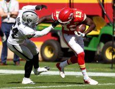 Los Raiders mejoraron ahora con balance de 3-2, un juego detrás de los Chiefs (4-1) en la División Oeste de la Conferencia Americana. (Foto Prensa Libre: AFP)
