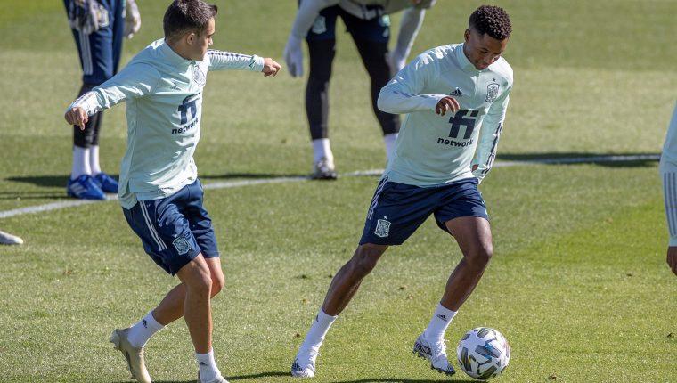 Ansu Fati será la apuesta en la delantera española para enfrentar a Suiza. (Foto Prensa Libre: EFE)