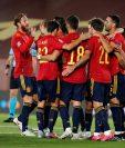 Una solitaria anotación de Mikel Oyarzabal bastó para la victoria de España 1-0 sobre Suiza en la Liga de Naciones. (Foto Prensa Libre: EFE)