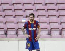 El argentino Lionel Messi sigue sin poder encontrar el gol en clásicos. (Foto Prensa Libre: EFE)