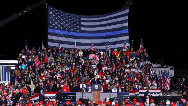 Trump se enfrentará al candidato demócrata Joe Biden en las elecciones presidenciales de Estados Unidos el 3 de noviembre. Foto Prensa Libre: EFE.
