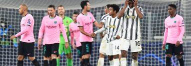 La Juventus cayó en casa frente al Barcelona. (Foto Prensa Libre: EFE)