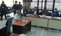 Audiencia de primera declaración de César Montes, sindicado de haber dado la orden para atacar a un grupo de soldado en Semuy 2, El Estor, Izabal. (Foto Prensa Libre: Érick Ávila)