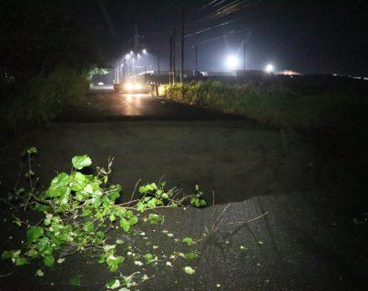 Colapsa carretera a causa de la lluvia en la ruta de Escuintla a Taxisco