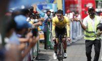 Manuel Rodas tras su actuación en la contrarreloj volvió a meterse entre los diez mejores corredores de la Vuelta a Guatemala. Foto Esbin García.