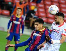 El Barcelona cedió su primer empate en la actual temporada y lo hizo en casa ante el Sevilla. (Foto Prensa Libre: AFP)