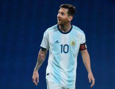 Messi anotó el único gol que guió al triunfo a Argentina. (Foto Prensa Libre: AFP)