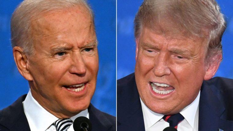 Biden y Trump no aceptaron condiciones del próximo debate. (Foto Prensa Libre: AFP)
