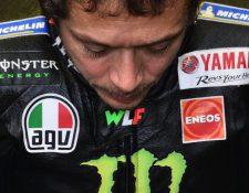 Valentino Rossi debe recuperarse totalmente del covid-19 para poder volver a participar en las próximas fechas de Moto GP. (Foto Prensa Libre: AFP)