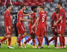 El Bayern Múnich festejó en casa contra el Atleti. (Foto Prensa Libre: AFP)
