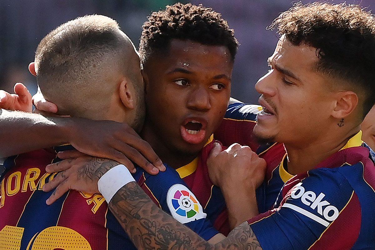 Ansu Fati se convierte en el jugador más joven en marcar en un Clásico