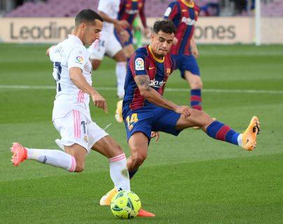 Coutinho, quien ha participado en los últimos cinco juegos del FC Barcelona, no podrá ser tomado en cuenta para el encuentro ante la Juventus por una lesión. (Foto Prensa Libre: AFP)