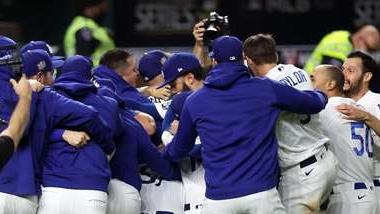 Terminó la sequía de 32 años, los Dodgers son los ganadores de la Serie Mundial 2020. (Foto Prensa Libre: AFP)