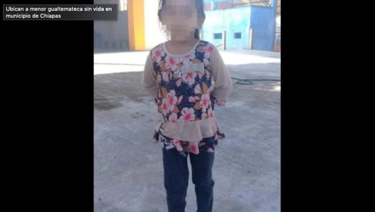 Niña guatemalteca fallecida