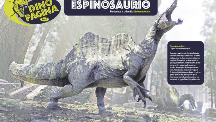 Un proyecto para aprender sobre la época de los dinosaurios.  (Foto Prensa Libre)