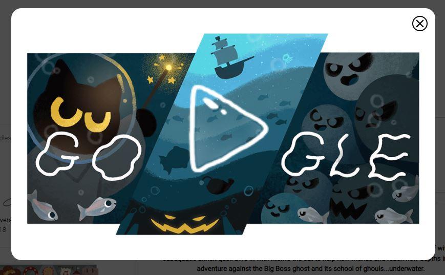 Google festeja Halloween con un terrorífico doodle y un juego escondido