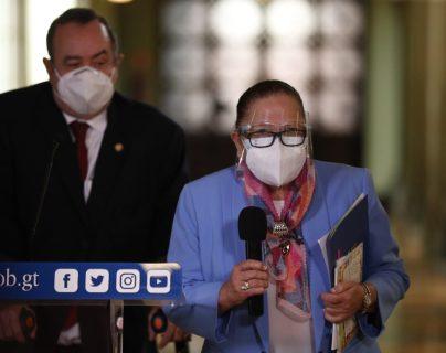 María Consuelo Porras participó este jueves 15 de octubre en una actividad contra la explotación infantil junto al presidente Alejandro Giammattei. (Foto Prensa Libre: Esbin García)