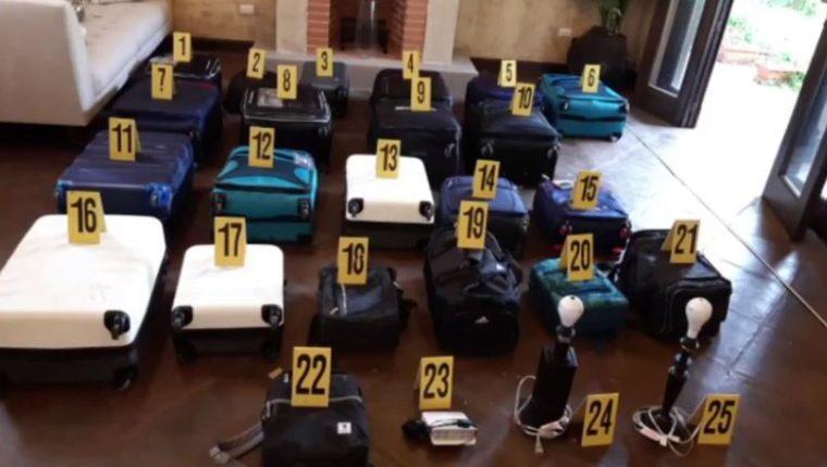 El inmueble donde se hallaron los Q122 millones en efectivo fue arrendado por el exministro José Luis Benito un mes después de abandonar el cargo en la cartera de comunicaciones, según el MP. (Foto Prensa Libre: MP)