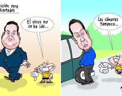 Personajes: Allan Rodríguez y Cándido Leal.