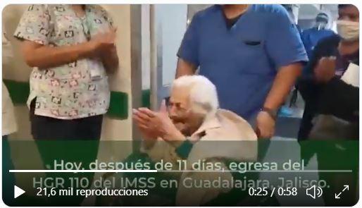 La anciana se recuperó en el Instituto Mexicano del Seguro Social. (Foto Prensa Libre: Tomada de video)