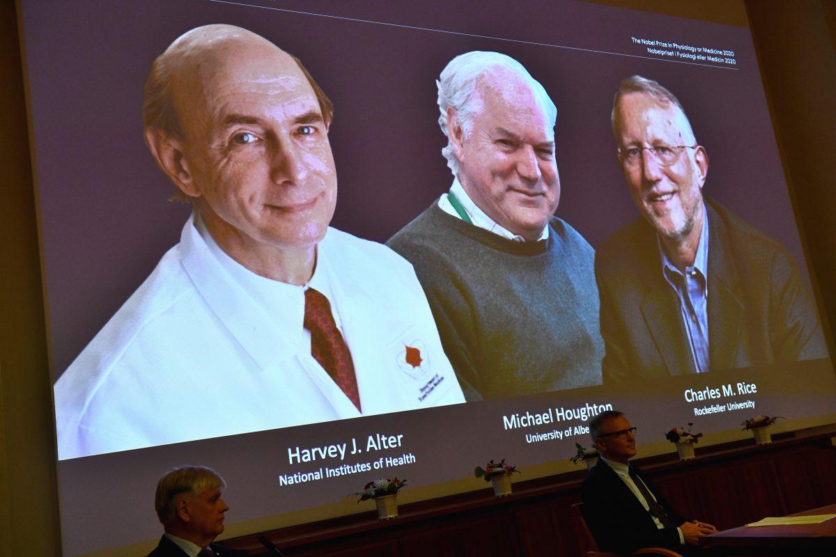 Nobel de Medicina: Harvey J. Alter, Michael Houghton y Charles M. Rice, por el descubrimiento del virus de la hepatitis C