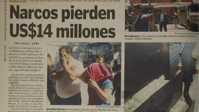 En el 2003, la PNC y el MP decomisaron US$14 millones al presunto capo del narcotráfico Otto Herrera. (Foto: Hemeroteca PL)