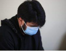 El agente de la PNC, Werren David López Alvarado, es señalado de la muerte de un ciudadano. (Foto Prensa Libre: Carlos Hernández)