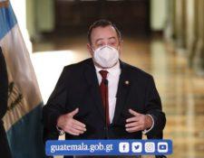 El presidente Alejandro Giammattei informa respecto de la supuesta ola de secuestros en Guatemala. (Foto Prensa Libre: Esbin García)