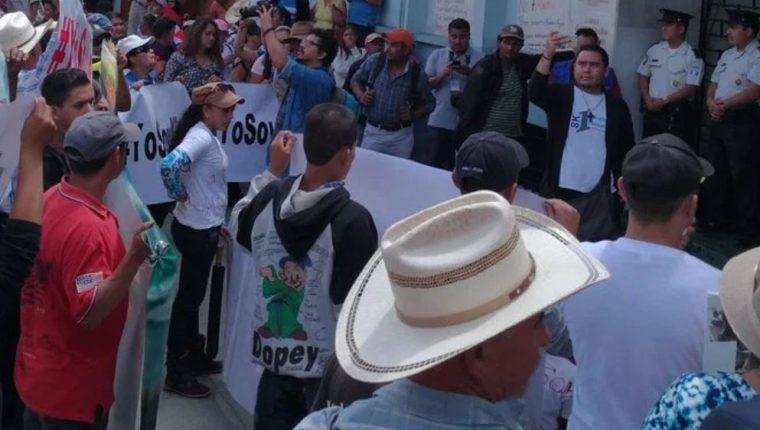 En anteriores oportunidades el Pueblo Xinca ha manifestado por proyectos mineros en sus territorio. (Foto Prensa Libre: Hemeroteca PL)