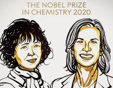 Emmanuelle Charpentier y Jennifer Doudna adelantaron este martes a un numeroso grupo de premiados a los que este prestigioso galardón les llegó pasados los 70 años y a otros que lo recibieron a título póstumo. (Foto Prensa Libre: Premio Nobel)