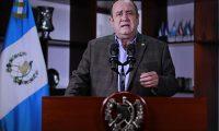 El presidente Alejandro Giammattei oficializó su recuperación en una cadena nacional. Fotografía: Presidencia.