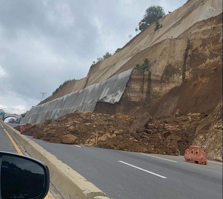 Nuevo derrumbe se registra en el libramiento de Chimaltenango