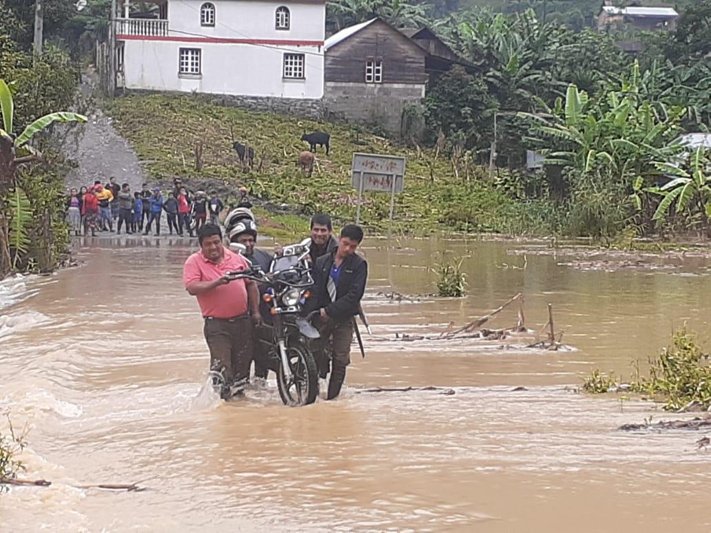 Estos son los lugares afectados por las lluvias en Alta Verapaz