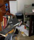 Las oficinas de la empresa familiar de Carlos Contreras, presidente del IGSS, fueron violentadas por desconocidos. (Foto Prensa Libre: Cortesía)