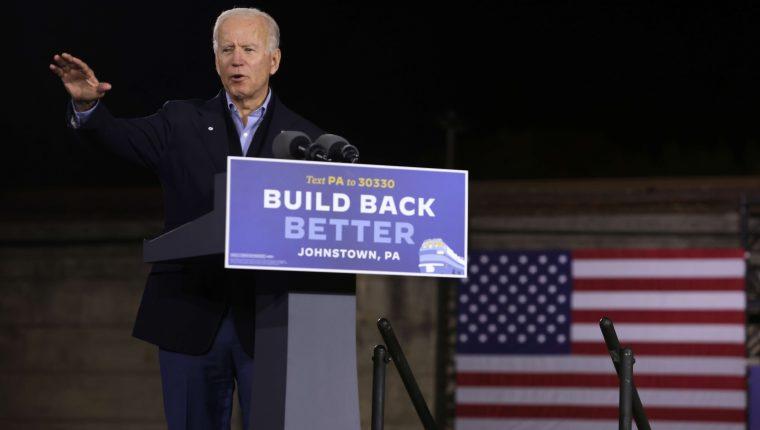 El candidato demócrata a la Casa Blanca, Joe Biden, dio negativo en prueba de coronavirus. (Foto Prensa Libre: AFP)