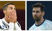 Cristiano Ronaldo y Lionel Messi, podrían enfrentarse el 28 de octubre en el duelo de la Liga de Campeones Juventus-Barcelona. (Foto Prensa Libre: Hemeroteca PL)