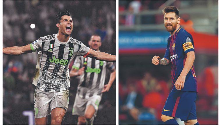 Cristiano Ronaldo y Leo Messi volverán a verse las caras. (Foto Prensa Libre: Hemeroteca PL)